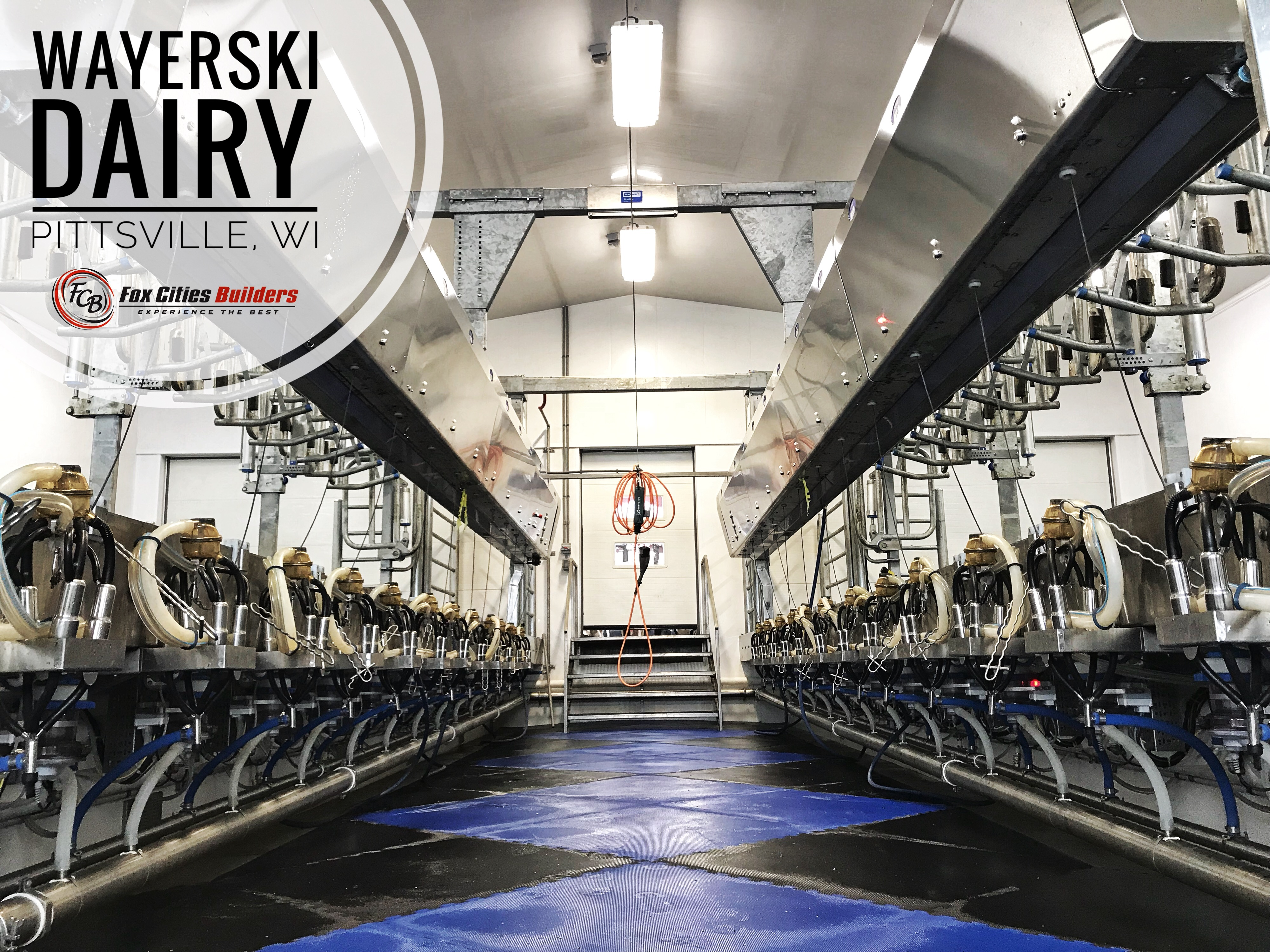 Agricultural Construction:  Milking Parlor:  Wayerski Dairy, Pittsville, WI