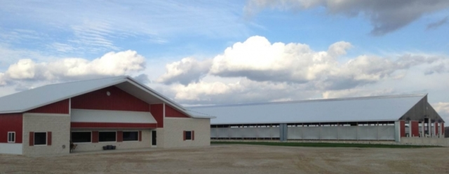 Agricultural Construction: Milking Parlor & Freestall Barn: Loehr Farms, LLC, Eden, WI