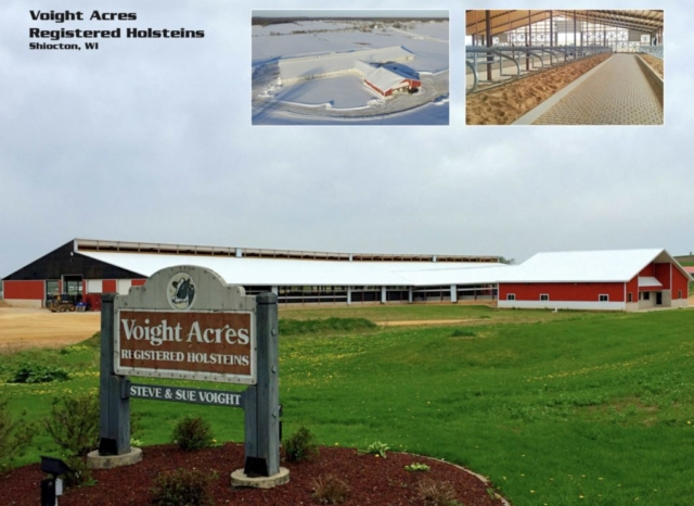 Agricultural Construction: Milking Parlor & Freestall Barn:  Voight Acres Registered Holsteins, Shiocton, WI