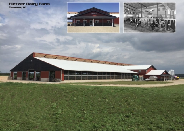 Agricultural Construction: Robotdairy & Freestall Barn:  Fietzer Dairy Farm, Manawa, WI