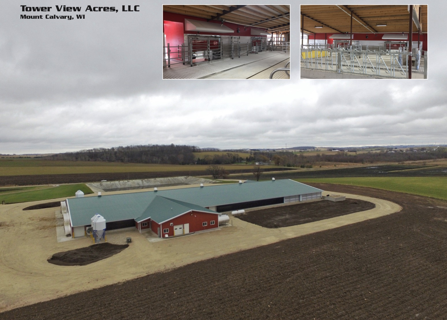 Agricultural Construction:  RobotDairy:  Tower View Acres, Mount Calvary, WI