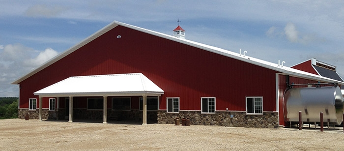 Agricultural Construction: Milking Parlor: Kohlwey Dairy, Adell, WI