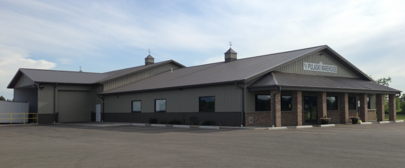 Commercial Construction:  Pulaski Warehouse, Pulaski, WI